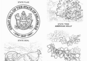 Delaware State Flower Coloring Page Delaware Flag Coloring Page Download Awesome Virginia State Seal