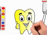 Dental Coloring Pages for toddlers How to Draw Teeth toothbrush Coloring & Drawing Teeth with