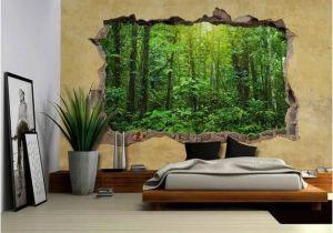 Desert Scene Wall Mural Wall26 Tropical Rain forest Viewed Through A Broken Wall