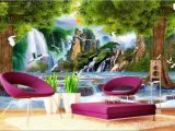 Design Your Own Mural 3d Wallpaper Custom Non Woven Mural Water the Tree Crane