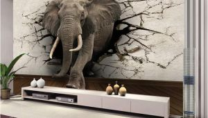 Design Your Own Wall Mural Custom 3d Elephant Wall Mural Personalized Giant Wallpaper