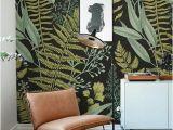 Designer Murals for Walls Botanical Wallpaper Ferns Wallpaper Wall Mural Green Home Décor