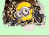 Despicable Me Wall Mural Minions Wall Smash Despicable Me Wall Sticker Kids Childrens