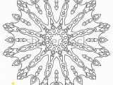 Detailed Snowflake Coloring Pages Delicate Snowflake Adult Coloring Book Page Stock Vector