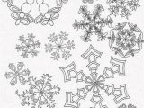 Detailed Snowflake Coloring Pages Printable Snowflake Coloring Picture for Adults
