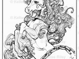 Detailed Unicorn Coloring Pages Unicorn Adult Coloring Pages by Kelleeart On Etsy