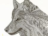 Detailed Wolf Coloring Pages for Adults Zen Wolf by J Richards Zentangle Inspired Art Wolf Art