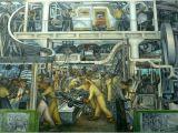Detroit Industry Mural north Wall Rivera Przemysłowe Murale W Detroit Artykuł