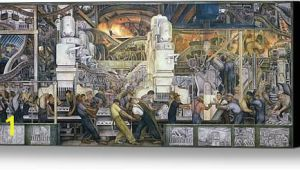 Detroit Industry Mural Print Detroit Industry north Wall Canvas Print Canvas Art by Die…