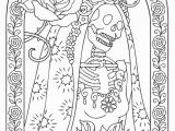Dia De Los Muertos Couple Coloring Pages 18awesome Day the Dead Adult Coloring Book Clip Arts & Coloring