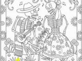 Dia De Los Muertos Couple Coloring Pages 231 Best Sugar Scull Coloring Images On Pinterest