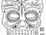 Dia De Los Muertos Couple Coloring Pages Free Printable Character Face Masks