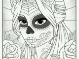 Dia De Los Muertos Couple Coloring Pages Halloween Coloring Pages Ebook Sugar Skull Halloween