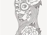 Dia De Los Muertos Couple Coloring Pages Sugar Skull Coloring Pages