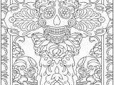 Dia De Muertos Coloring Pages Day Of the Dead Coloring Sheets Dover Publications