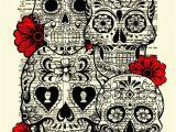 Dia Wall Murals Sugar Skull Art Sugar Skull Collage Dictionary Art Print Wall