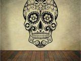 Dia Wall Murals Sugar Skull Wall Decal Mexican Dia De Los Muertos Vinyl Removable