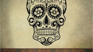 Dia Wall Murals Sugar Skull Wall Decal Mexican Dia De Los Muertos Vinyl Removable