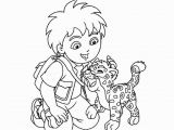 Diego and Baby Jaguar Coloring Pages Diego and Baby Jaguar Coloring Pages