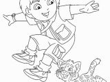Diego and Baby Jaguar Coloring Pages Diego and His Adorable Pet Baby Jaguar In Go Diego Go Coloring Page