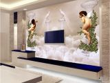 Difference Between Wallpaper and Wall Mural Custom Wallpaper 3d Wall Murals European Style Little Angel