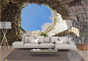 Difference Between Wallpaper and Wall Mural the Hole Wall Mural Wallpaper 3 D Sitting Room the Bedroom Tv