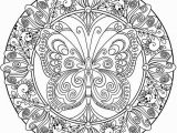 Difficult Mandala Coloring Pages Printable butterfly Mandala Design Patterns Pinterest