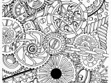 Difficult Mandala Coloring Pages Printable Intricate Design Of Gear for Adult Difficult Coloring Pages