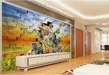 Digital Printing Wall Murals Großhandel Benutzerdefinierte Digital Print Wallpaper 3d Stereo Afrikanische Tierwelt Wohnzimmer Schlafzimmer Hintergrund Wanddekoration Wandbild