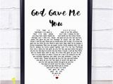Digitally Printed Wall Murals Amazon God Gave Me You Heart song Lyric Wall Art Quote