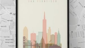 Digitally Printed Wall Murals San Francisco Print Printable Poster Wall Art Travel City