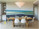 Dining Room Wall Mural Ideas Modern Dining Room with Abstract Wall Mural