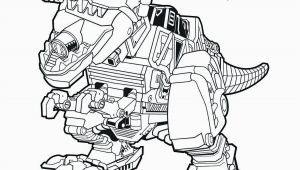 Dino Power Ranger Coloring Pages Red Zord Download them All