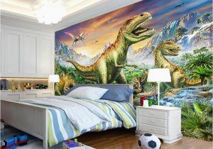 Dinosaur Murals Bedroom 3d Wallpaper Custom forest Tyrannosaurus Jurassic Dinosaur