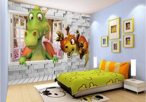 Dinosaur Murals Bedroom Beibehang Custom Wallpaper Kids Room Backdrop Wall 3d Dinosaur