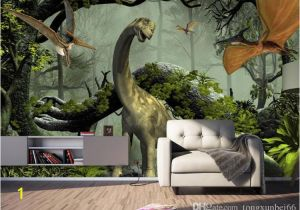 Dinosaur Murals Bedroom Custom Wallpaper 3d Stereo Dinosaur theme Murals