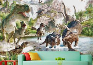 Dinosaur Murals Bedroom Mural 3d Wallpaper 3d Wall Papers for Tv Backdrop Dinosaur World