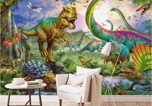 Dinosaur Murals Bedroom Wallpaper 3d Stereo Dinosaur Animal World Murals Children S