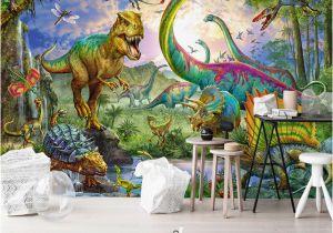 Dinosaur Murals Bedroom Wallpaper 3d Stereo Dinosaur Animal World Murals Children S