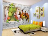 Dinosaur Train Wall Mural Beibehang Custom Wallpaper Kids Room Backdrop Wall 3d Dinosaur