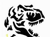 Dinosaur Wall Mural Stencils T Rex Pumpkin Carving Pattern Jurassic Park Jurassic