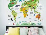 Dinosaur Wall Murals Large 3 Cool World Map Decals to Kids Excited About Geography