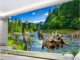 Dinosaur Wall Murals Large 3d Fantasy Mural Wallpaper Jurassic Dinosaur Era Mural for