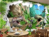 Dinosaur Wall Murals Large Custom Mural Wallpaper 3d Cartoon Dinosaur Living Room Tv Background