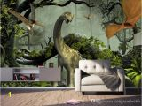 Dinosaur Wall Murals Large Custom Wallpaper 3d Stereo Dinosaur theme Murals