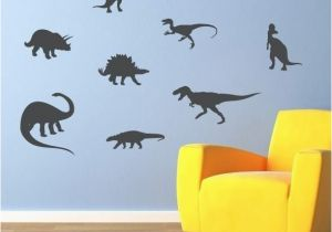 Dinosaur Wall Murals Large Dinosaur Wall Decal Set Of 10 Dinosaur Bedroom Decor Boy