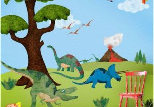 Dinosaur Wall Murals Large This Dinosaur Wall Mural Would Make Such A Neat Room for A Dinosaur