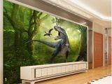 Dinosaurs Murals Walls Beibehang forest Dinosaurs Jungle Children S Room Background