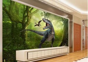 Dinosaurs Murals Walls Beibehang forest Dinosaurs Jungle Children S Room Background