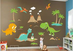 Dinosaurs Murals Walls Children Wall Decals Dino Land Dinosaurs Wall Decal Wall Sticker